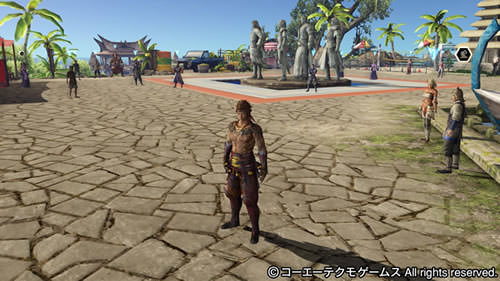 PS4基地シンボル四都督と呂蒙の画像(トロピカルテーマ)
