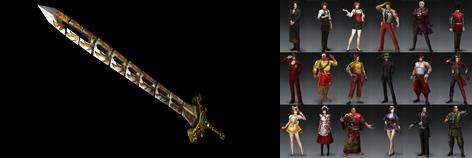 DLC武器の焔刃剣と呉のオリジナル衣装の画像