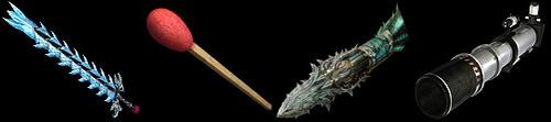 焔刃剣と螺旋弩の上位・異色武器のトップ画像