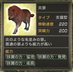 炎狼の能力値