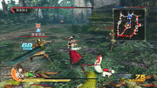 支援獣[天狐]の戦闘中の様子