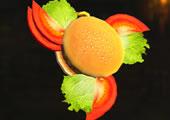 ハンバーガー武器の画像