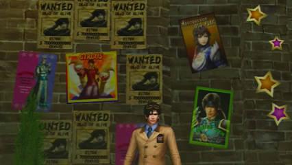 遊園地風基地テーマの壁に貼られたポスター各種