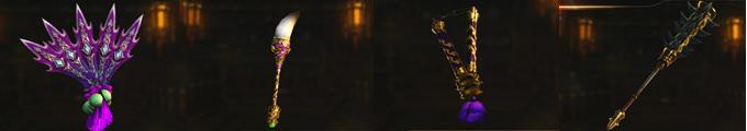 ヒョウ|妖筆|両節棍|狼牙棒の上位武器の画像
