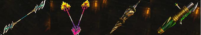 長柄双刀|双杖|螺旋槍|連弩砲の上位武器画像