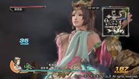 PS4版三國無双7猛将伝の貂蝉スクリーンショット