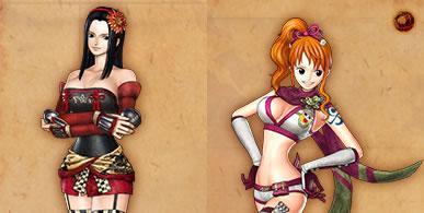ナミのくのいち、ロビンの甲斐姫DLC衣装画像