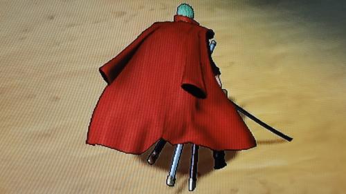 ゾロ戦闘服衣装DLC背面