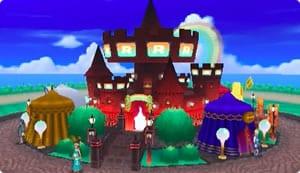 フェスサークルのお城のレインボーロケット団のテーマ外観