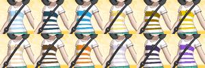 VネックボーダーTシャツの色一覧表TOP画像