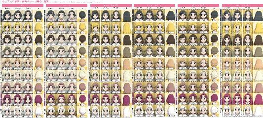 女の子の全髪型・髪色画像一覧表