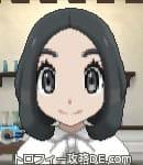 サンムーン女主人公の髪型ボブ・色ブラック(前髪すっきり)