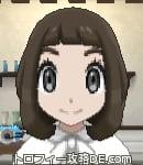サンムーン女主人公の髪型ボブ・色ダークブラウン(前髪ぱっつん)