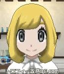 サンムーン女主人公の髪型ボブ・色ゴールド(前髪おろして)