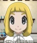 サンムーン女主人公の髪型ボブ・色ゴールド(前髪ぱっつん)