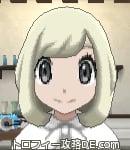 サンムーン女主人公の髪型ボブ・色プラチナブロンド(前髪おろして)