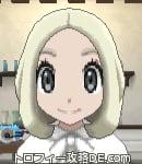 サンムーン女主人公の髪型ボブ・色プラチナブロンド(前髪すっきり)