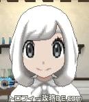 サンムーン女主人公の髪型ボブ・色ホワイト(前髪おろして)