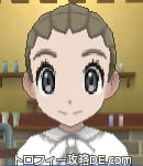 サンムーン女主人公の髪型リゾートツインテール・色アッシュブラウン(前髪おろして)
