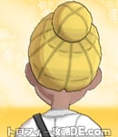 サンムーン女主人公の髪型リゾートツインテール・色ゴールド(後ろ姿)