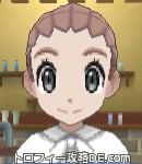 サンムーン女主人公の髪型リゾートツインテール・色ピンクラブラウン(前髪おろして)