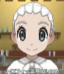 サンムーン女主人公の髪型リゾートツインテール・色ホワイト(前髪おろして)