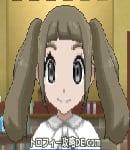 サンムーン女主人公の髪型ツインテール・色アッシュブラウン(前髪ぱっつん)