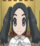 女の主人公の髪型ツインテール(前髪スッキリ)