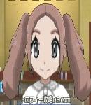 サンムーン女主人公の髪型ツインテール・色ピンクブラウン(前髪すっきり)