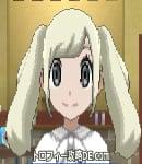 サンムーン女主人公の髪型ツインテール・色プラチナブロンド(前髪おろして)