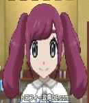 サンムーン女主人公の髪型ツインテール・色レッド(前髪おろして)