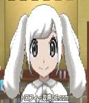 サンムーン女主人公の髪型ツインテール・色ホワイト(前髪おろして)