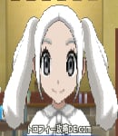 サンムーン女主人公の髪型ツインテール・色ホワイト(前髪すっきり)