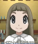 サンムーン女主人公の髪型ストレートロング・色アッシュブラウン(前髪ぱっつん)