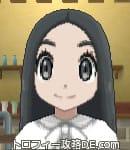 サンムーン女主人公の髪型ストレートロング・色ブラック(前髪すっきり)