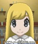 サンムーン女主人公の髪型ストレートロング・色ゴールド(前髪おろして)