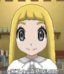 サンムーン女主人公の髪型ストレートロング・色ゴールド(前髪ぱっつん)