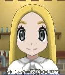 サンムーン女主人公の髪型ストレートロング・色ゴールド(前髪すっきり)