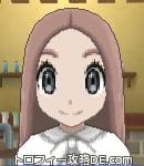 サンムーン女主人公の髪型ストレートロング・色ピンクブラウン(前髪すっきり)