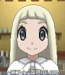 サンムーン女主人公の髪型ストレートロング・色プラチナブロンド(前髪ぱっつん)