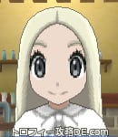 サンムーン女主人公の髪型ストレートロング・色プラチナブロンド(前髪すっきり)