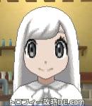 サンムーン女主人公の髪型ストレートロング・色ホワイト(前髪おろして)