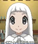 サンムーン女主人公の髪型ストレートロング・色ホワイト(前髪ぱっつん)