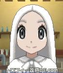 サンムーン女主人公の髪型ストレートロング・色ホワイト(前髪すっきり)