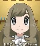 サンムーン女主人公の髪型ウェーブロング・色アッシュブラウン(前髪おろして)