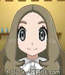 サンムーン女主人公の髪型ウェーブロング・色アッシュブラウン(前髪すっきり)