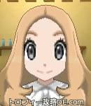 サンムーン女主人公の髪型ウェーブロング・色ライトベージュ(前髪すっきり)