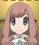 サンムーン女主人公の髪型ウェーブロング・色ピンクラブラウン(前髪おろして)