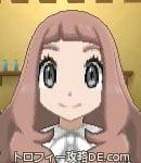 サンムーン女主人公の髪型ウェーブロング・色アッシュブラウン(前髪ぱっつん)