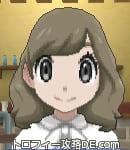 サンムーン女主人公の髪型ミディアムパーマ・色アッシュブラウン(前髪おろして)